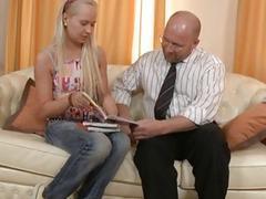 Wild discipline with mature tutor