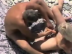 Horny Married Double act At The Beach