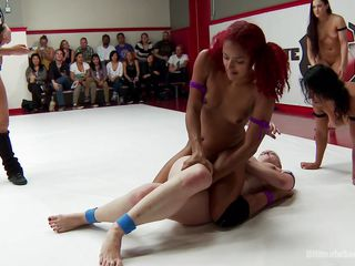 girls get kinky on the wrestling arena