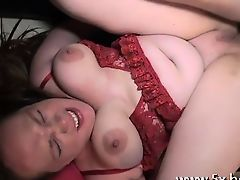French chubby Inessa shakes her boobs