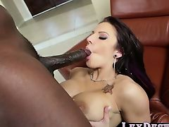 Sexy Brunette Lylith Lavey benefits from destroyed by Lexington Steel