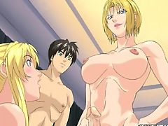 Blonde hentai shemale fucking girls heavy