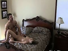 Fake Titty Blonde Cheater Busted On Spy Camera In Bedroom