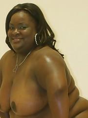 Fat black slut getting fucked then striking some poses