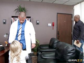 blonde doctor whoring with her co-worker