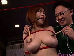 Rounded japanese subordination cutie pussy grinded with weenie