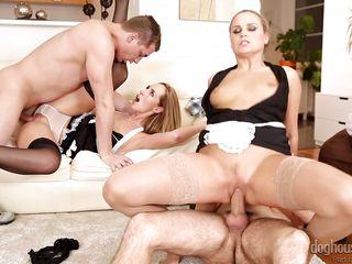 blonde harlots get fucked @ swinger's groupies #10