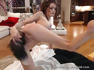 babe plays with her sexy wolf tail