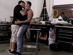 Gal Hottie Ty forces huge dick into muscled Nick tight ass