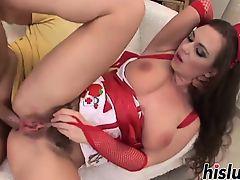 Kinky nurse gets her stiff asshole pummeled