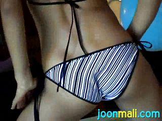 joon masturbates in her bikini