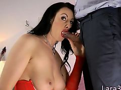 British milf anally creampied by rough dick