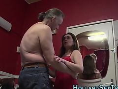 Tongued hooker creampied