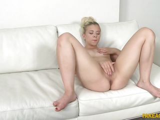 amazing anna rey masturbates at the fake audition