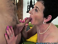 Horny full-grown attains facial