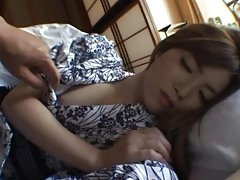 Waking Up a Gorgeous Japanese with Cuddles