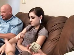 Teen Brunette Sasha Grey Rides An Old Man's Hard Cock