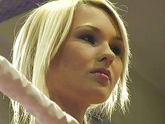 Cute Blondies Engage In Arousing Catfight
