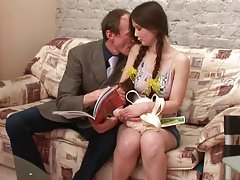Gorgeous Sofia gets her pussy drilled by her teacher