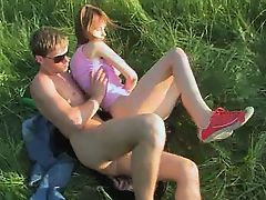 Nasty teenagers anal public copulation