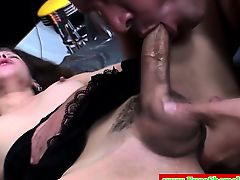 European trans tranny gets cocksucked