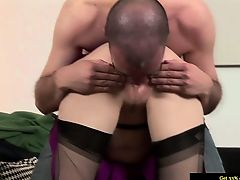 Melodious stockings getting plowed from behind