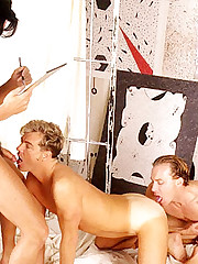 Hot Two men plus one female Cock Munching